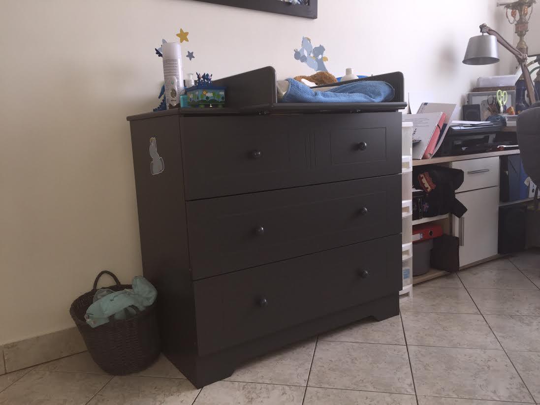 mini chambre b b oslo gris anthracite. Black Bedroom Furniture Sets. Home Design Ideas