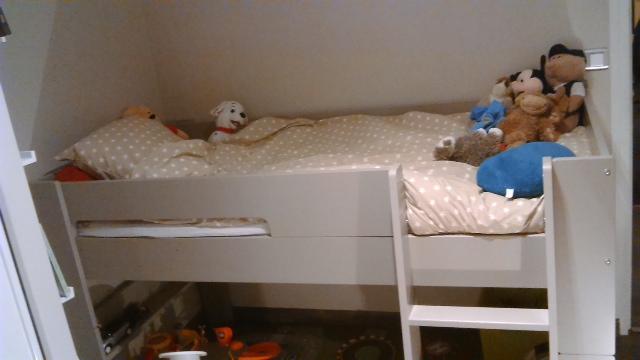 lit mi hauteur enfant wax lin 90x190 cm mobilier ecologique en bois ma chambre d 39 enfant. Black Bedroom Furniture Sets. Home Design Ideas