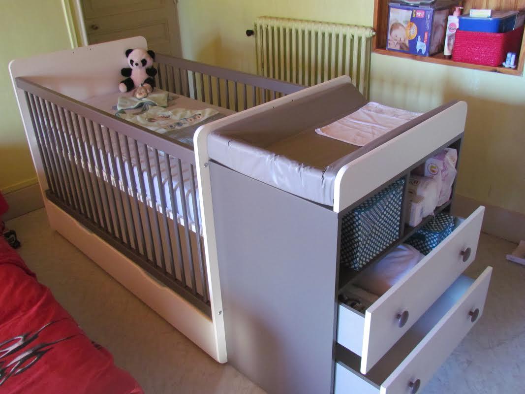 Lit bébé évolutif malte couleur taupe   ma chambre d'enfant .com
