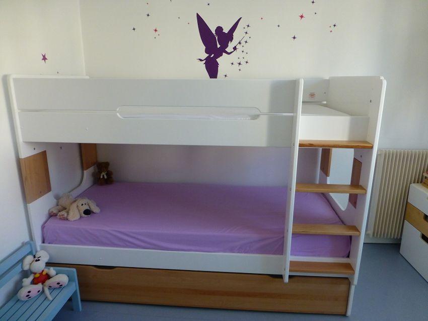 lit superpos spark blanc h tre 90x200 cm avec sommier gigogne h tre. Black Bedroom Furniture Sets. Home Design Ideas