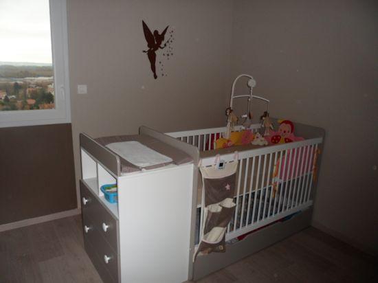 Lit b b volutif malte couleur lin et blanc avec matelas b b ma chambre d 39 enfant com for Chambre blanc et lin