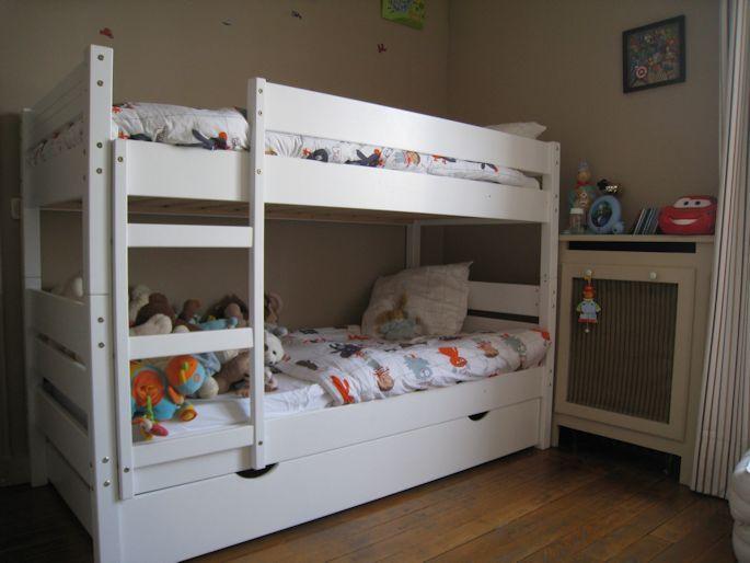 lit superpose bois. Black Bedroom Furniture Sets. Home Design Ideas