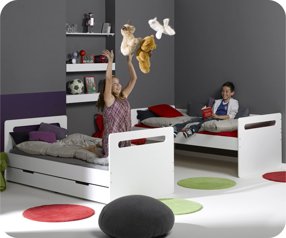 lit superpos enfant eden blanc 90x190 cm. Black Bedroom Furniture Sets. Home Design Ideas