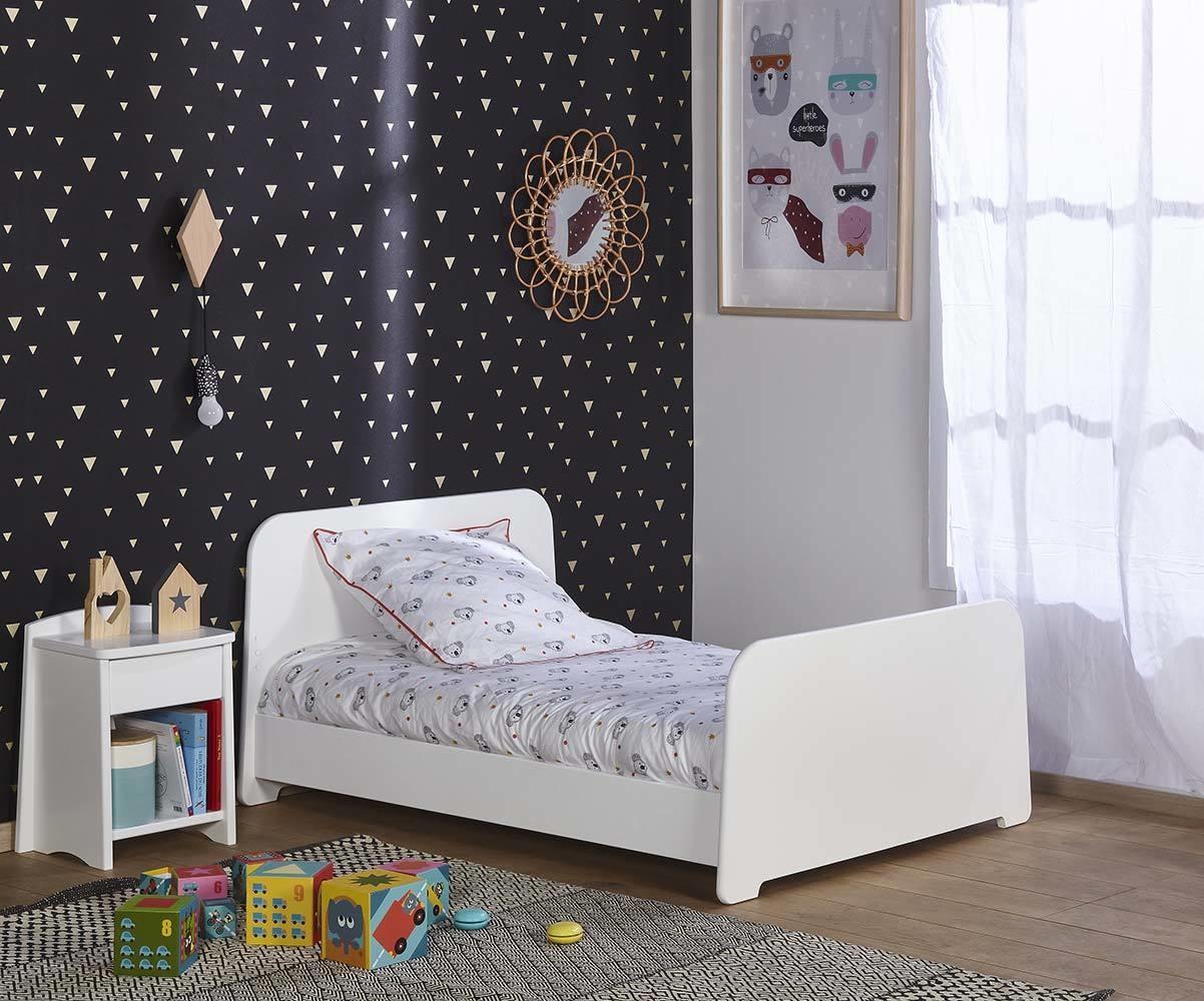 Pack lit enfant volutif eden blanc avec matelas et tiroir - Matelas evolutif enfant ...