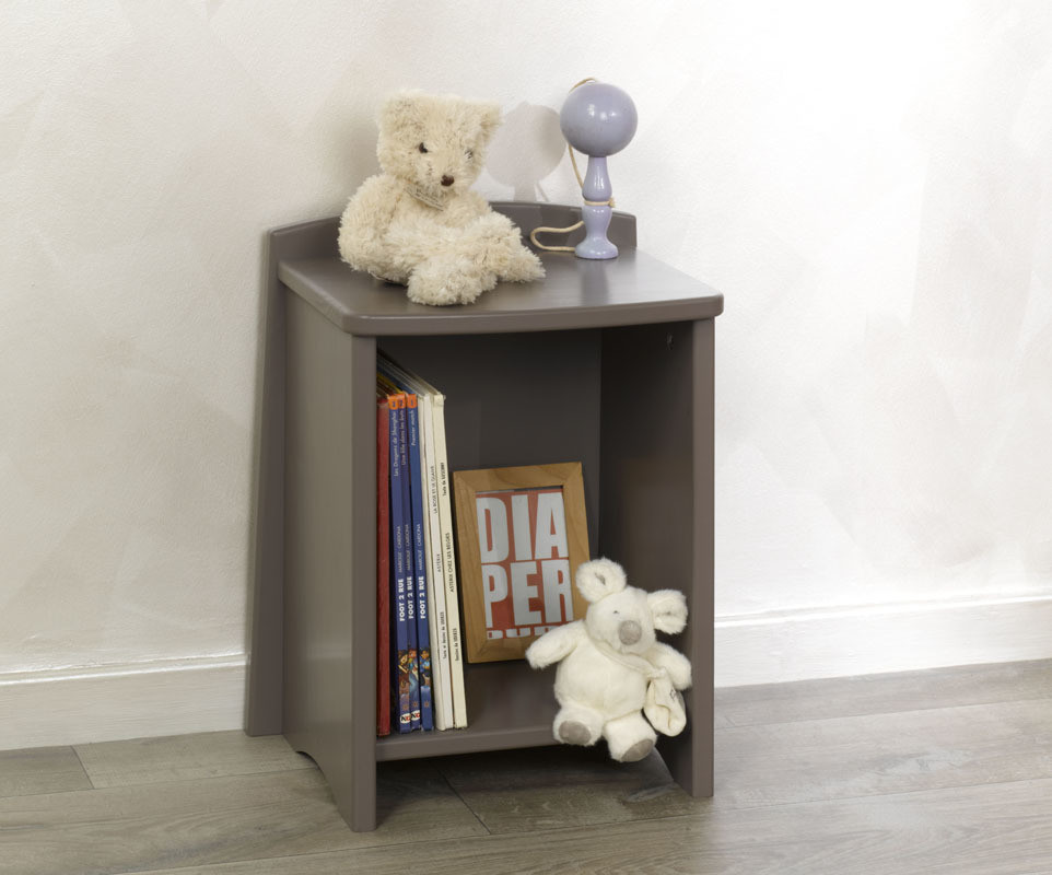 Chevet enfant nature taupe mobilier fabrication fran aise for Mobilier enfant