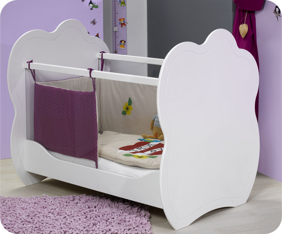 Mini Chambre bébé Altéa blanche avec plan à langer