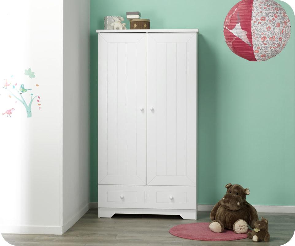 Chambre b b compl te oslo blanche chambre b b design for Armoire pour chambre enfant