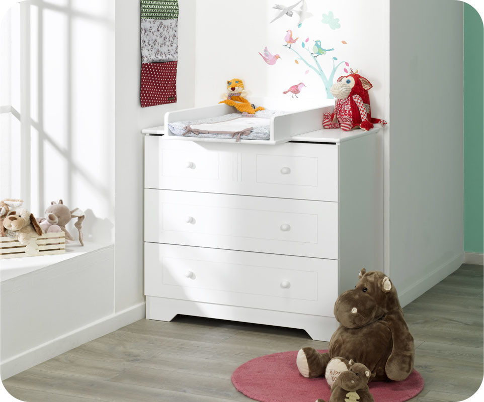 commode a langer bebe blanche. Black Bedroom Furniture Sets. Home Design Ideas