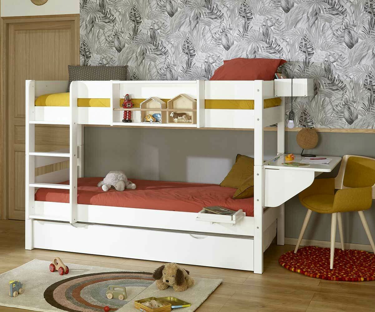 lit superpos enfant 1 2 3 lin 90x 190 cm. Black Bedroom Furniture Sets. Home Design Ideas