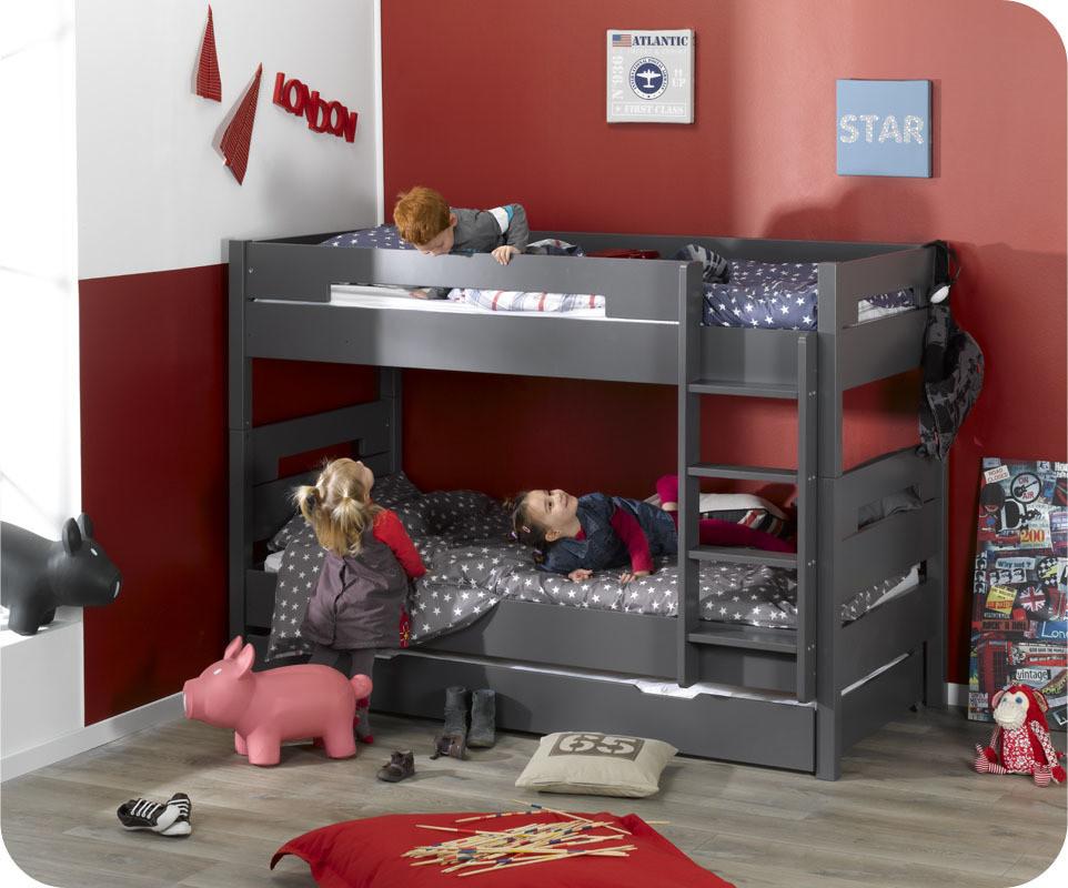 lit superpos achat vente lits enfant superpos s en bois. Black Bedroom Furniture Sets. Home Design Ideas