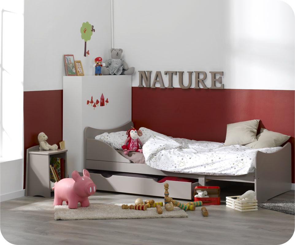 Pack lit enfant volutif ivoo lin avec matelas et tiroir for Machambre d enfant com