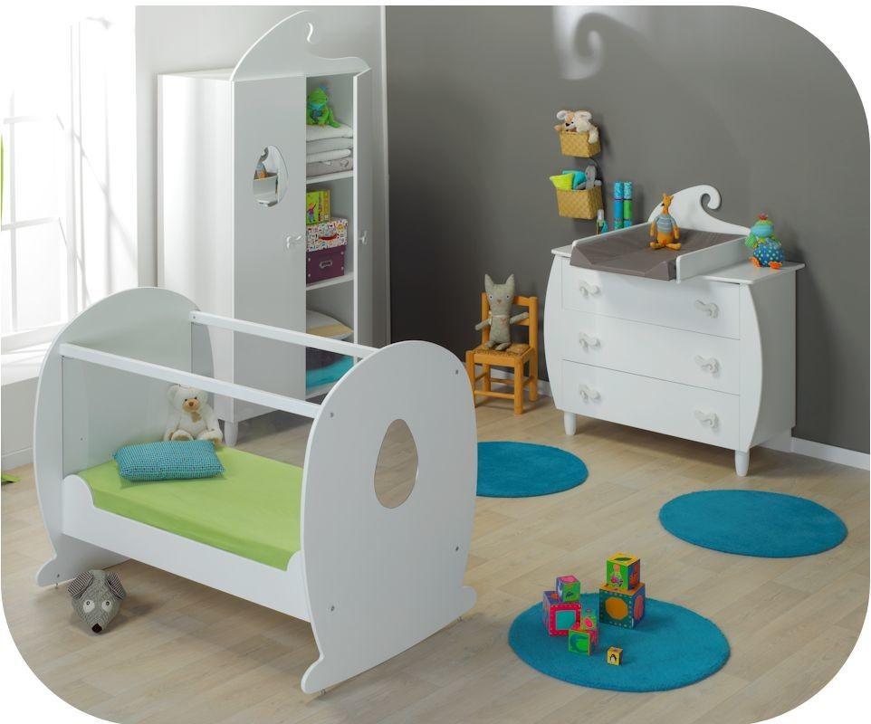 chambre b b lutin blanche achat vente de mobilier b b. Black Bedroom Furniture Sets. Home Design Ideas