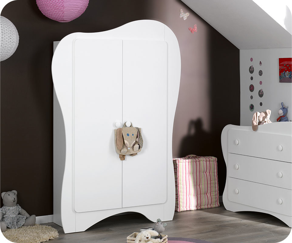 armoire b b iris blanche achat vente armoire chambre b b. Black Bedroom Furniture Sets. Home Design Ideas