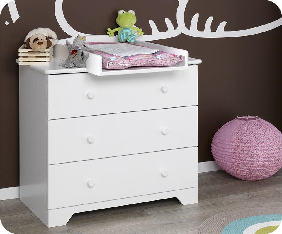 Plan langer nature blanc ma chambre d 39 enfant com - Plan a langer adaptable commode ...