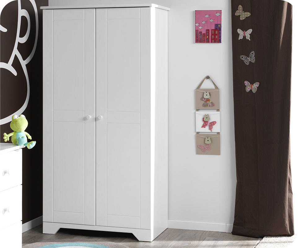 armoire b b nature blanche achat vente armoire. Black Bedroom Furniture Sets. Home Design Ideas