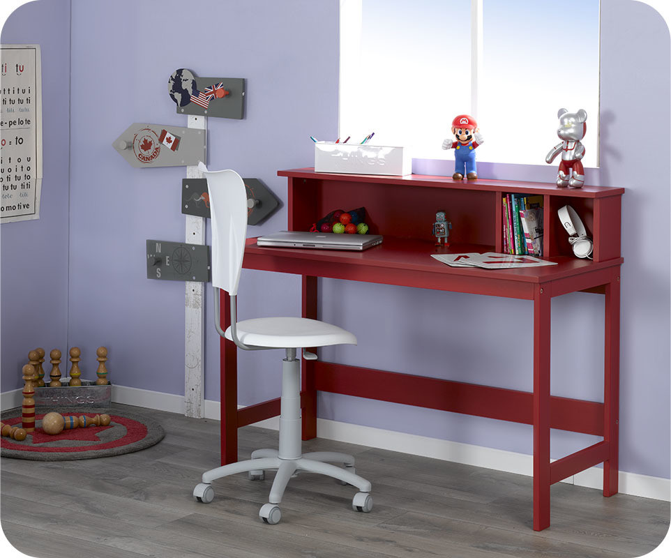 bureau enfant loft rouge com. Black Bedroom Furniture Sets. Home Design Ideas