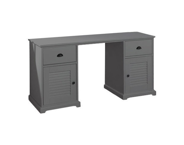 bureau enfant beach gris. Black Bedroom Furniture Sets. Home Design Ideas