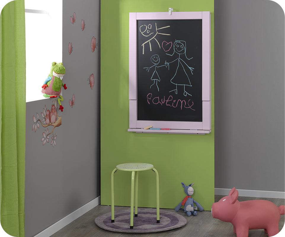 bureau tableau up blanc mobilier pour enfant ludique et cologique. Black Bedroom Furniture Sets. Home Design Ideas