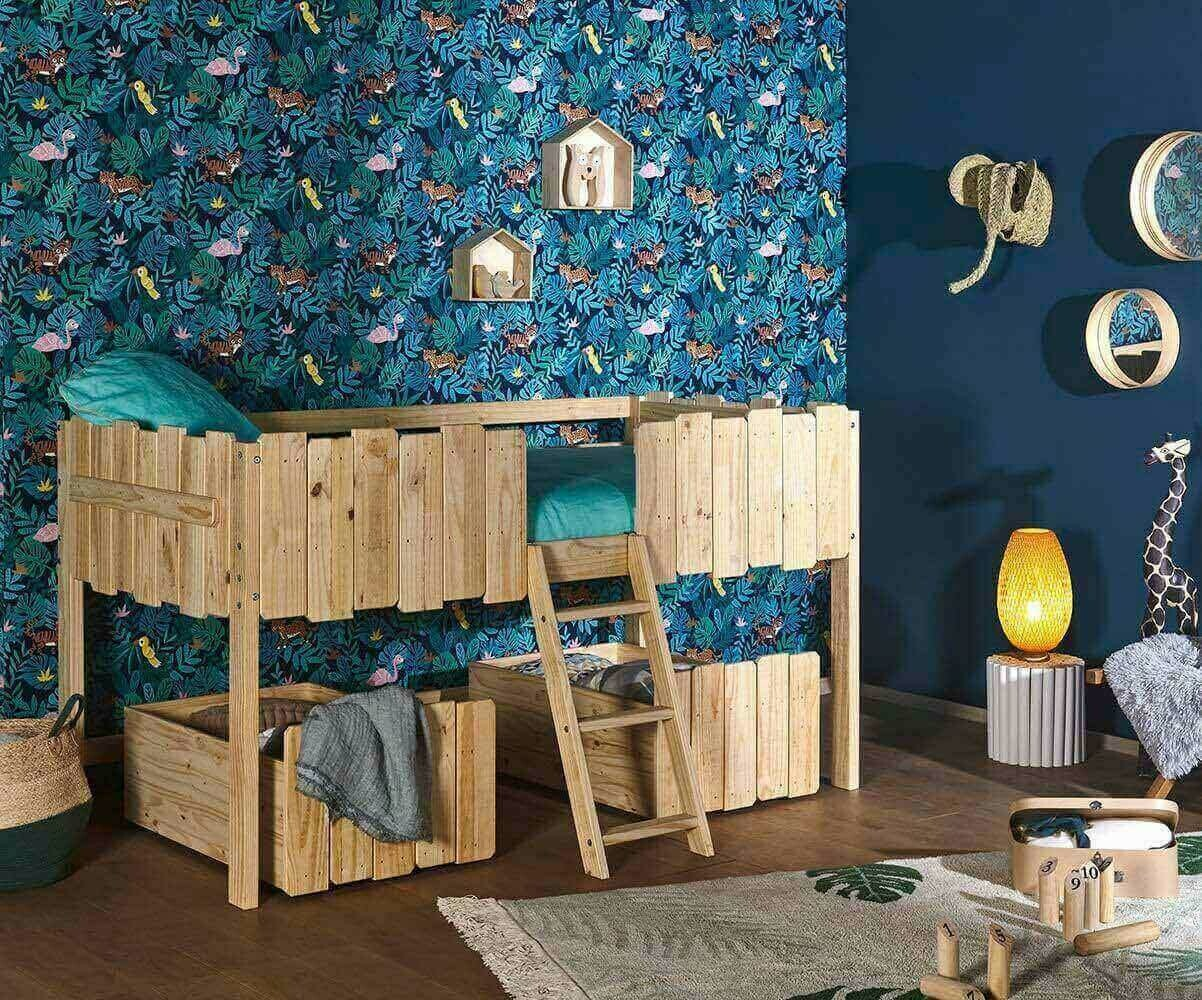 lit enfant cabane swam blanc. Black Bedroom Furniture Sets. Home Design Ideas