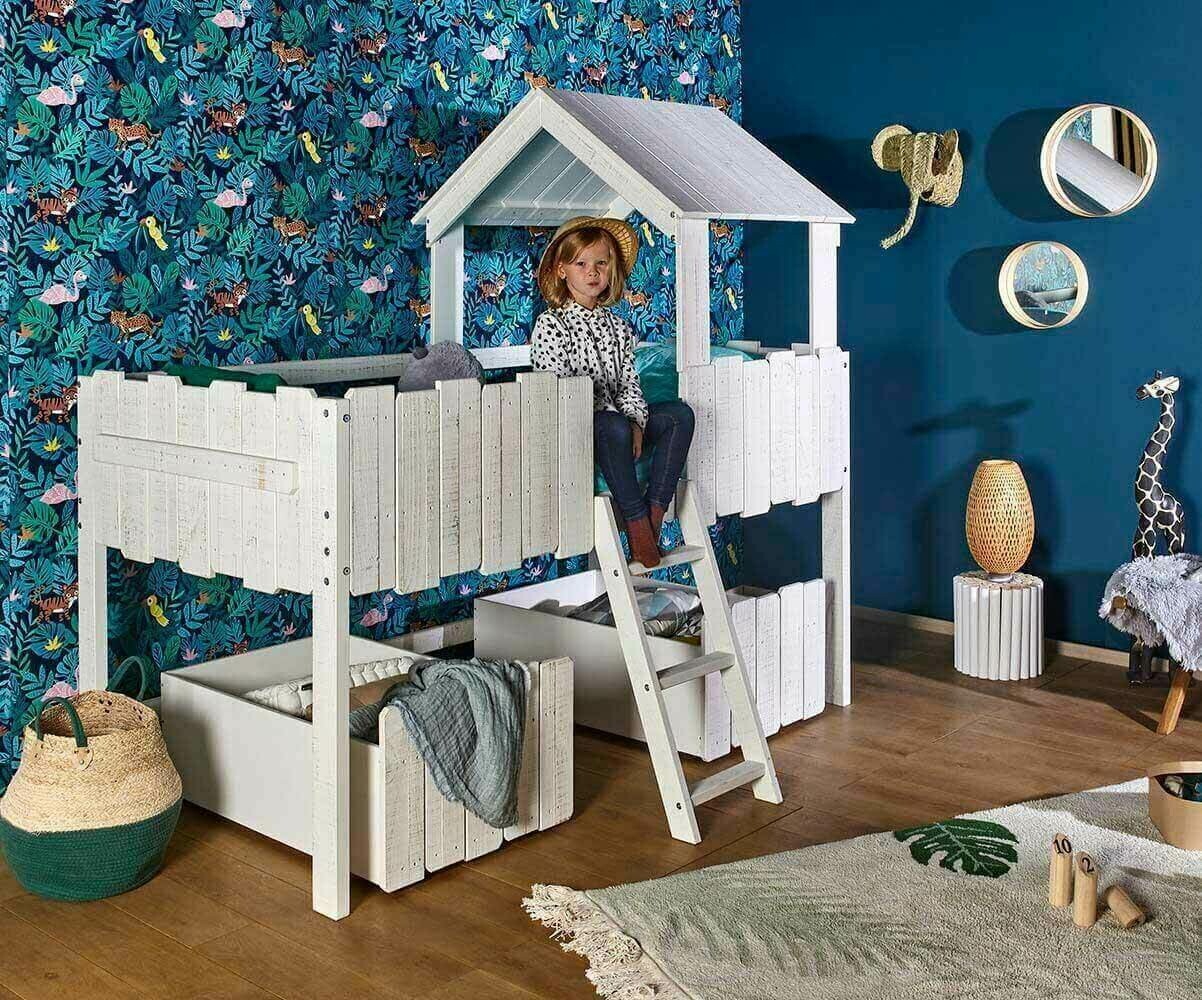 pack lit enfant cabane swam blanc. Black Bedroom Furniture Sets. Home Design Ideas