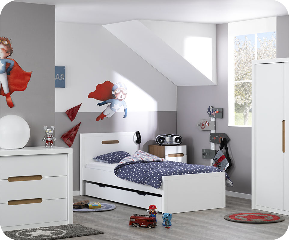 chambre enfant bow blanche achat vente chambre enfant. Black Bedroom Furniture Sets. Home Design Ideas
