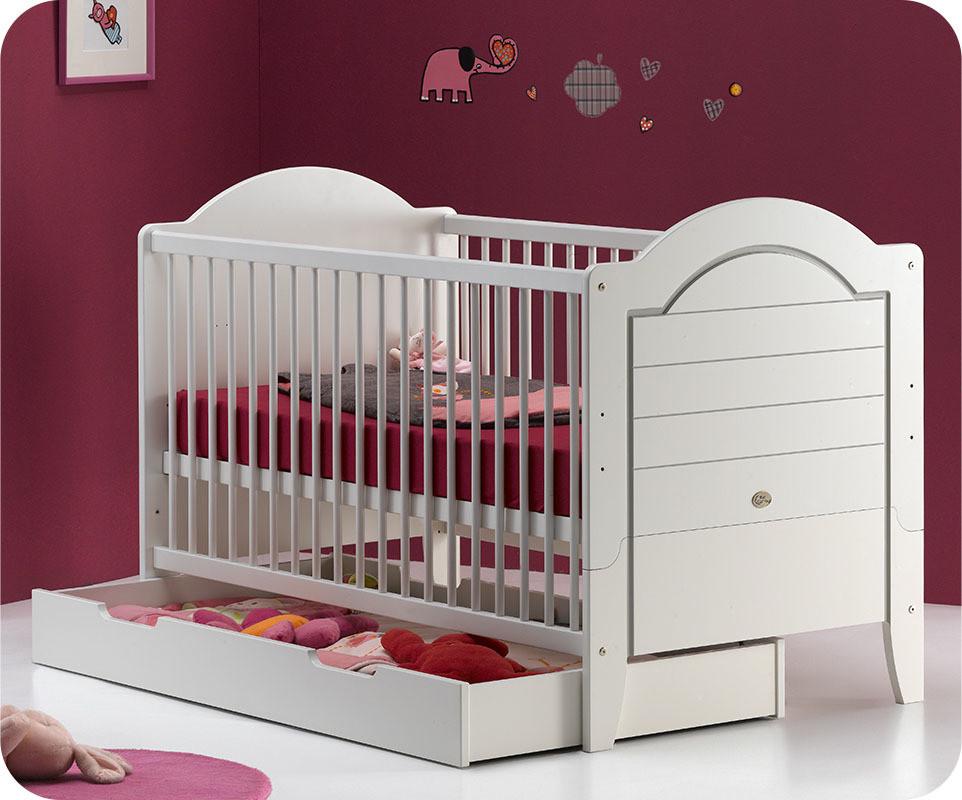 lit b b evolutif 70x140 cm lilas blanc avec matelas achat vente lit b b evolutif pas cher. Black Bedroom Furniture Sets. Home Design Ideas