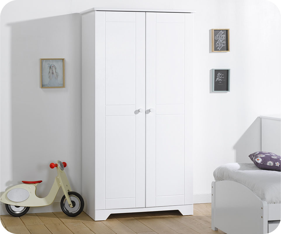 armoire enfant nature blanche mobilier fabrication fran aise. Black Bedroom Furniture Sets. Home Design Ideas
