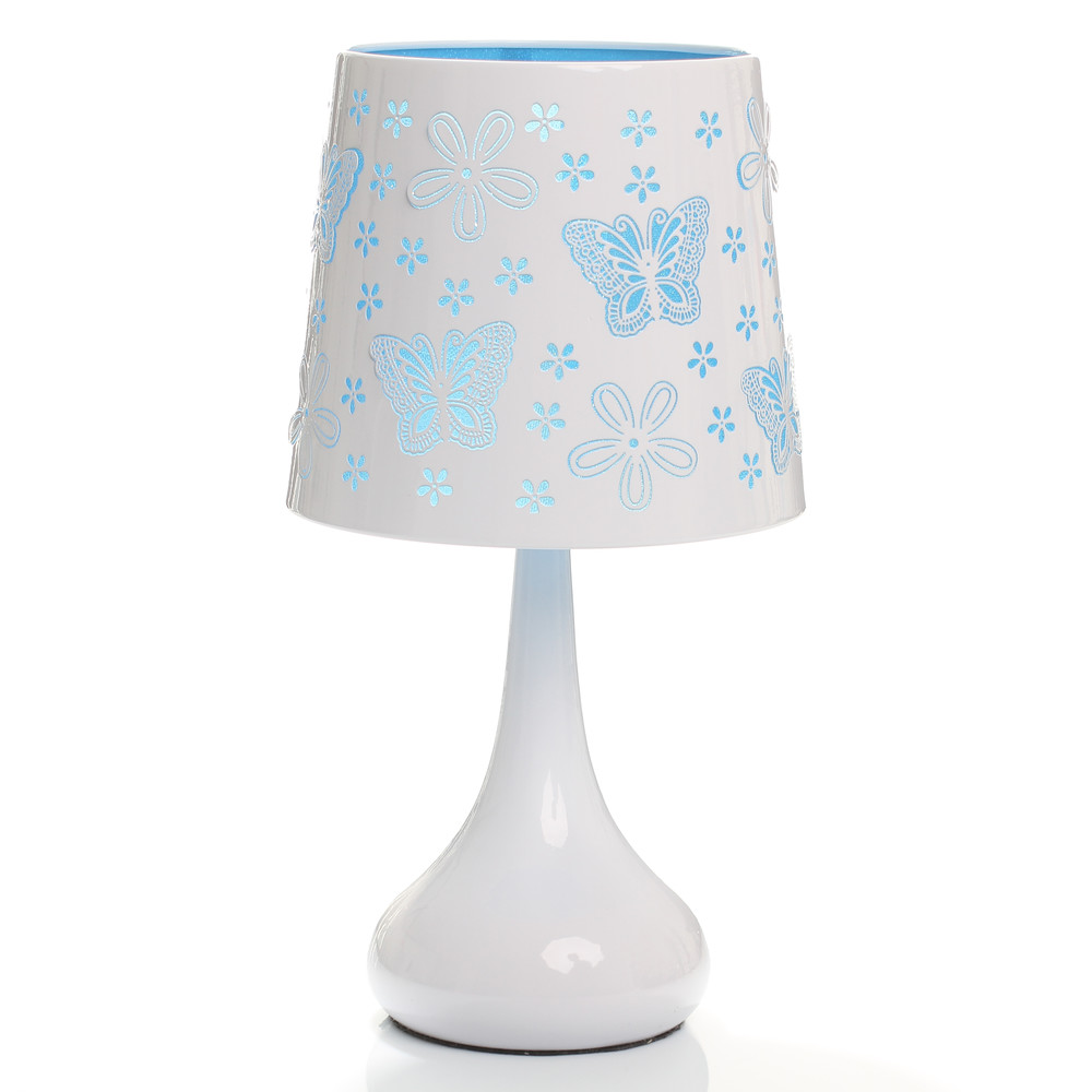 lampe touch bleu papillons achat vente lampe touch enfant ma chambre d 39 enfant com. Black Bedroom Furniture Sets. Home Design Ideas