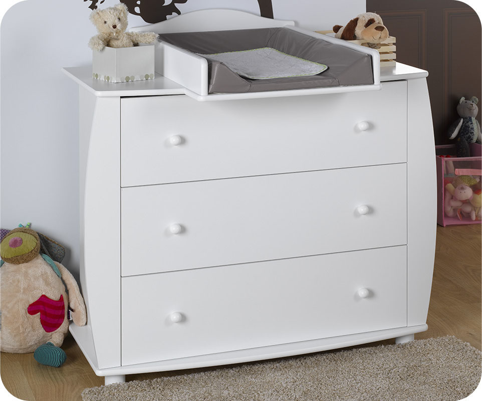 Chambre b b compl te r ve blanche for Commode chambre bebe