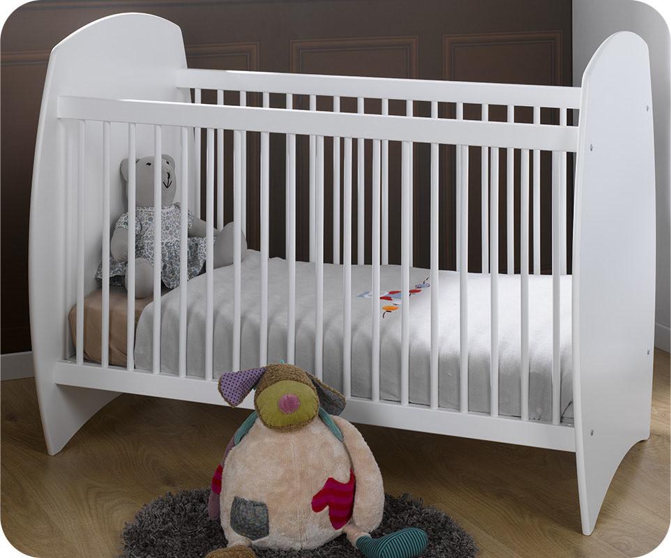 Fabrications Lit De Bébé à Barreaux Mea : Lit bébé rêve blanc achat vente écologique
