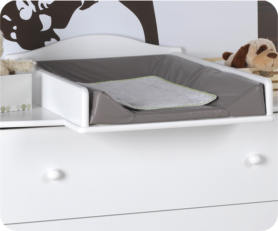 Plan langer amovible pour commode b b r ve blanche - Plan a langer adaptable commode ...