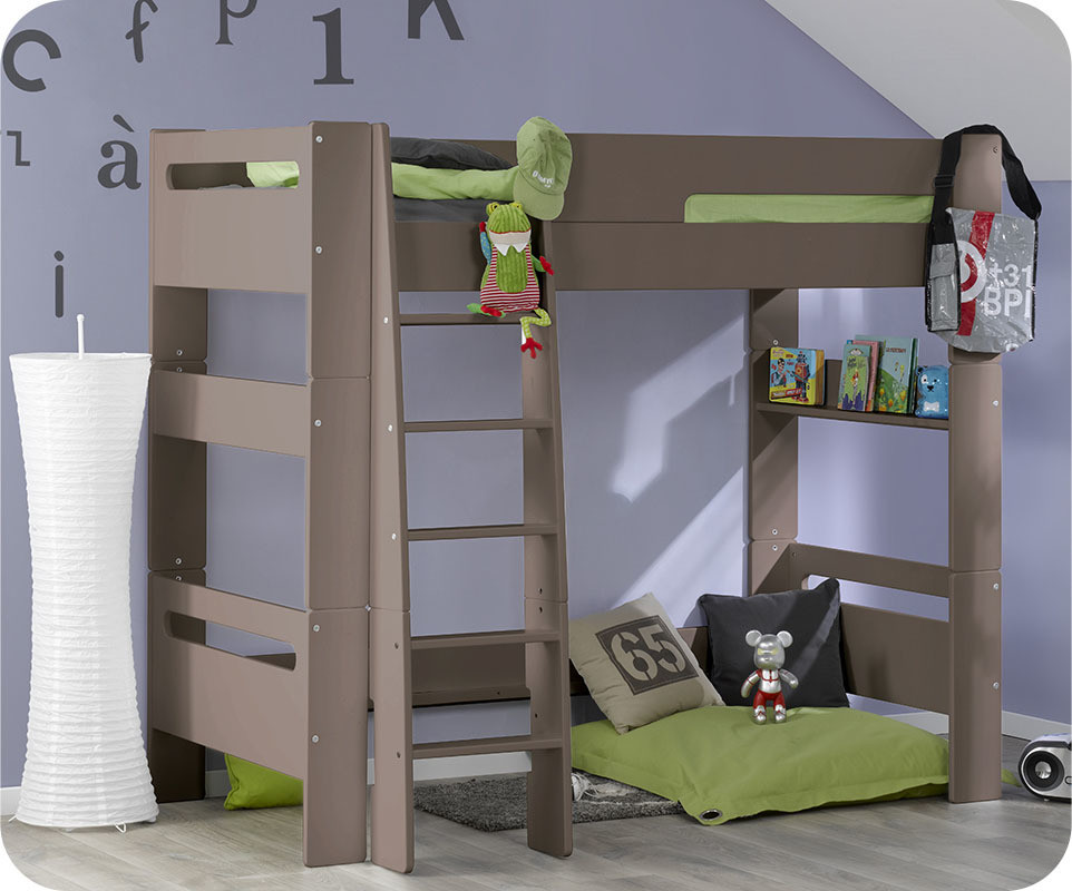 lit mezzanine enfant wax lin 90x190 cm ma chambre d 39 enfant. Black Bedroom Furniture Sets. Home Design Ideas