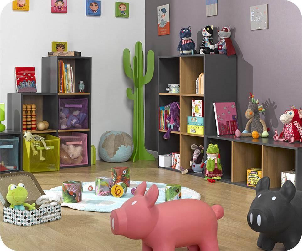 Tag res 3 cubes de rangement modulables gris for Ambiance chambre enfant