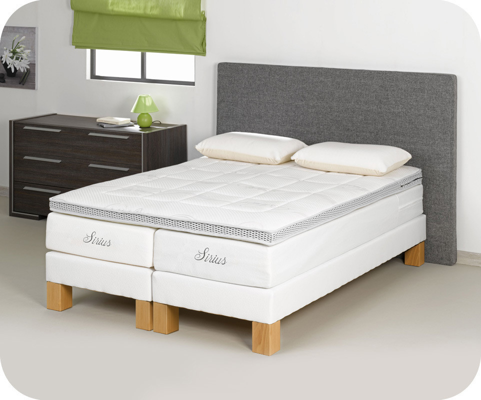 sommier sur pieds sailor 140x190 cm coloris blanc ma. Black Bedroom Furniture Sets. Home Design Ideas