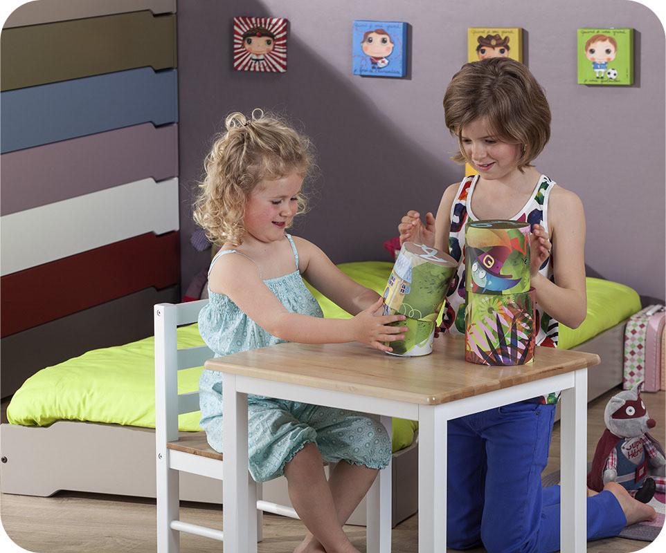 Lit Bois Brut A Peindre : Pack Lit Enfant Empilable Brut ? Peindre 90×190 cm avec sommier et