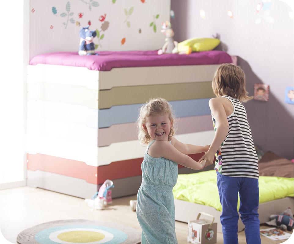 Lit Bois Brut A Peindre : Lit bois massif empilable – Ma Chambre d'enfant .com
