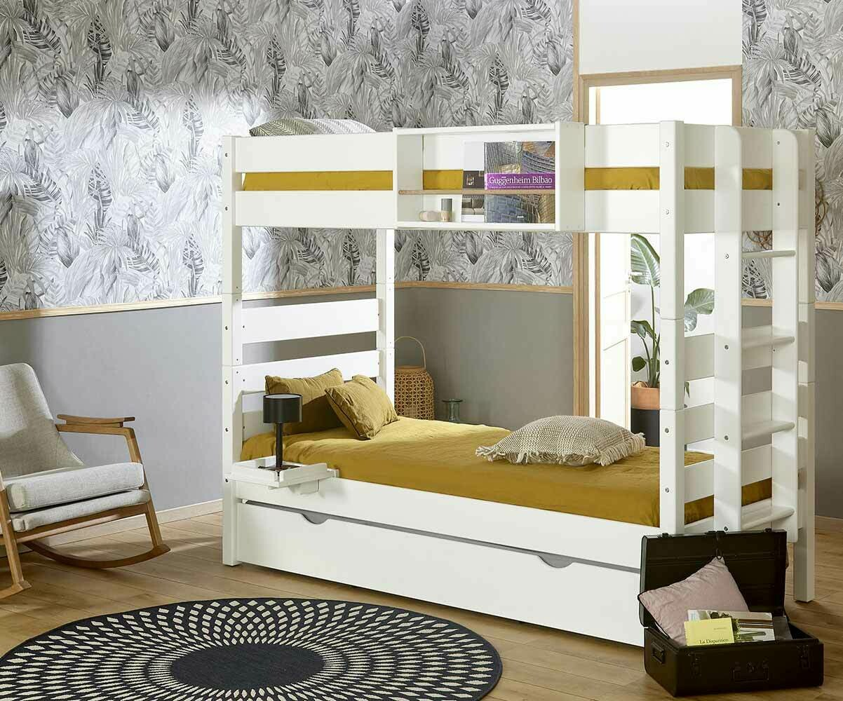 lits superposes blanc. Black Bedroom Furniture Sets. Home Design Ideas