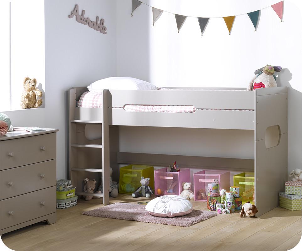 pack lit enfant mi hauteur spark lin 90x200 cm avec matelas. Black Bedroom Furniture Sets. Home Design Ideas