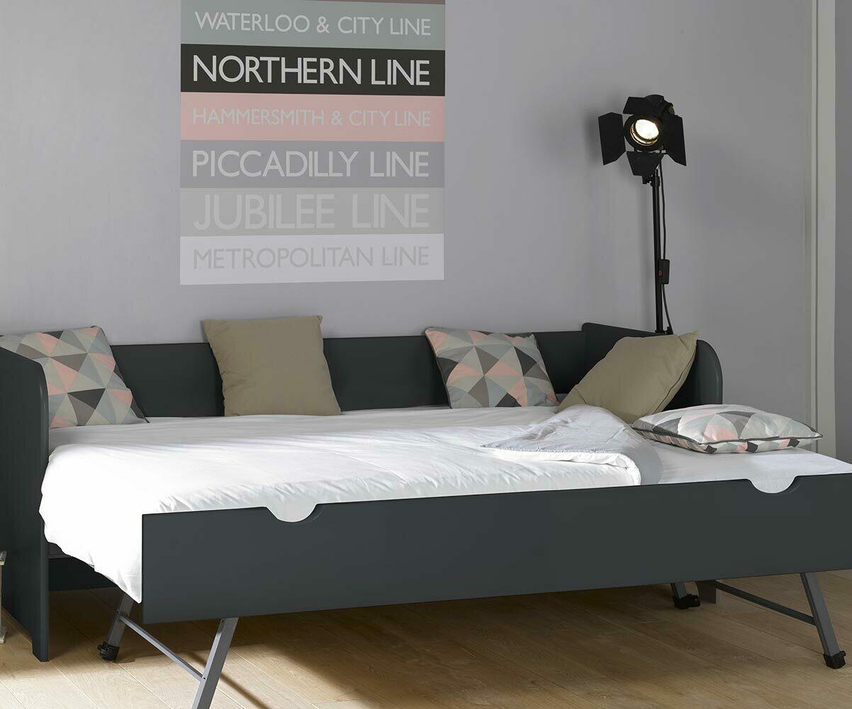 pack lit gigogne bali blanc 80x200 cm avec 2 matelas. Black Bedroom Furniture Sets. Home Design Ideas