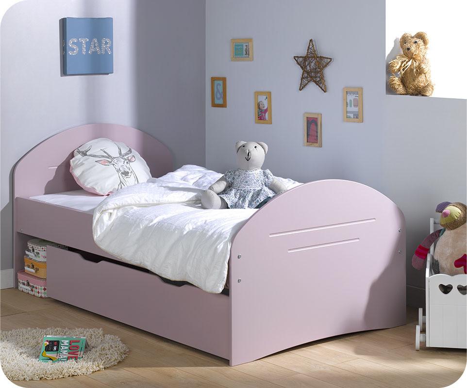 Lit enfant volutif spoom vieux rose vente de petits lits enafnts - Destockage lit enfant ...