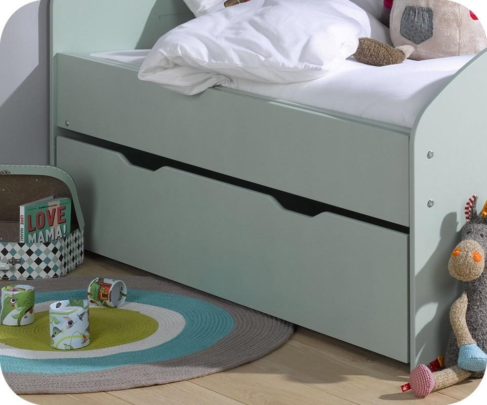 tiroir lit enfant evolutif spoom menthe 90x140 cm. Black Bedroom Furniture Sets. Home Design Ideas