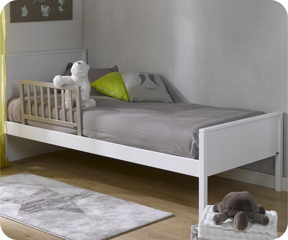Barri re de lit enfant l once 70x40 cm en pin massif - Barriere de lit en bois blanc ...