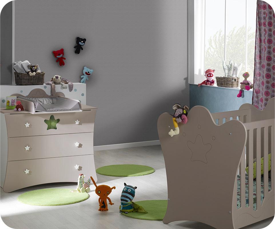 Mini chambre b b king blanche et lin avec plan langer for Machambre d enfant com
