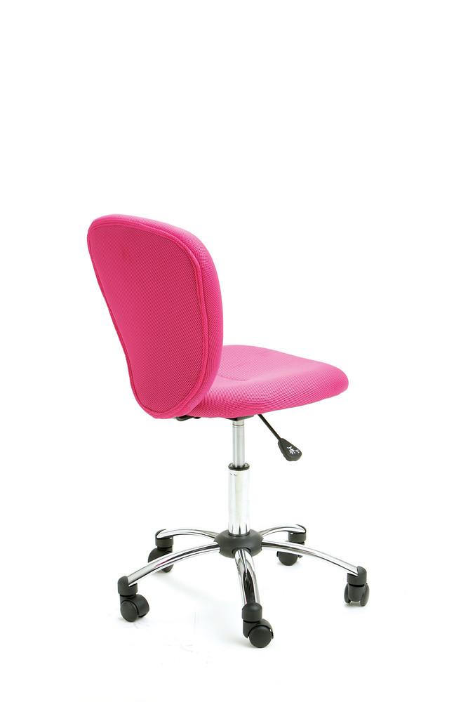 Chaise de bureau pop rose achat vente chaises de bureau for Chaise de bureau rose