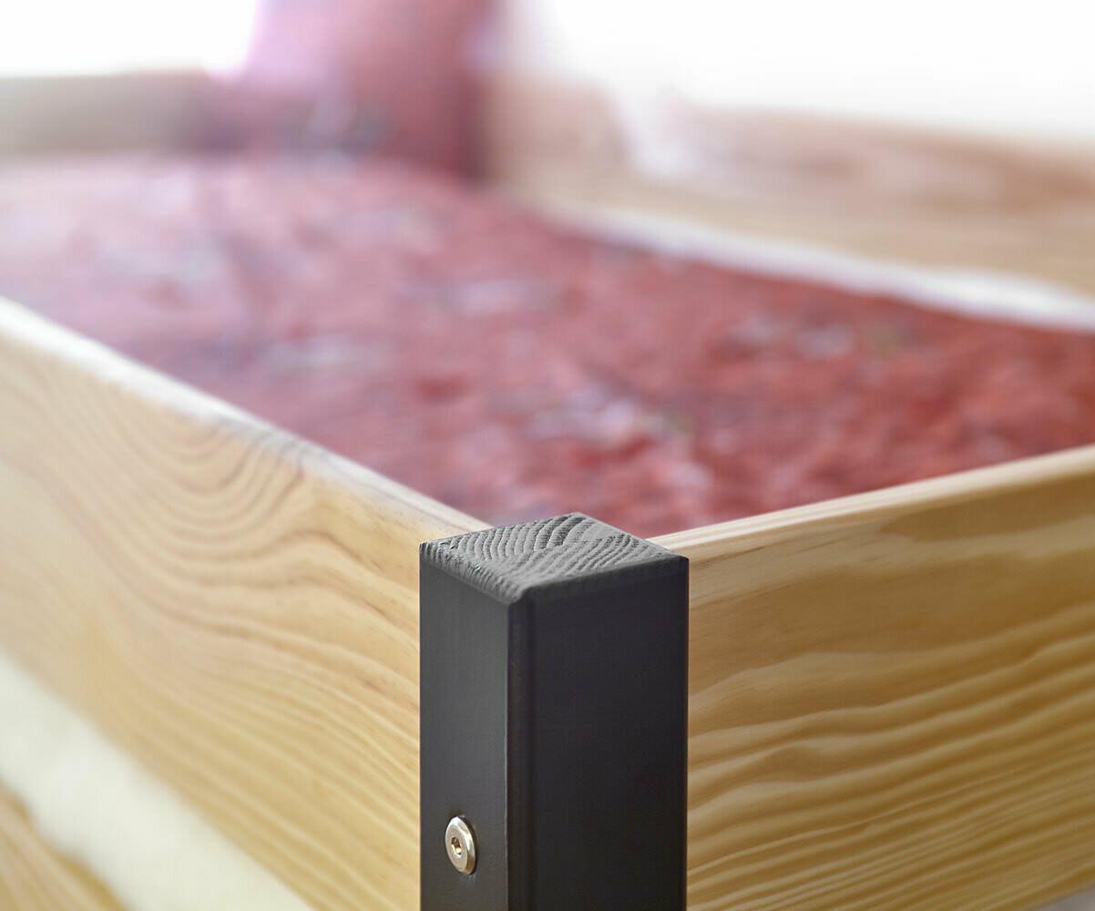 lit mezzanine enfant clay blanc achat vente mobilier bois. Black Bedroom Furniture Sets. Home Design Ideas