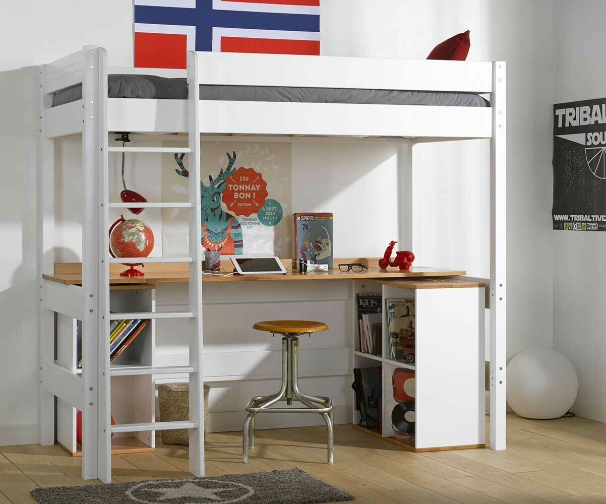 lit superpos enfant clay blanc achat vente lit. Black Bedroom Furniture Sets. Home Design Ideas