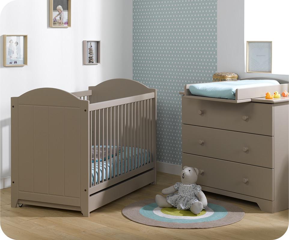 Mini chambre nature lin avec plan langer achat chambre for Achat chambre bebe