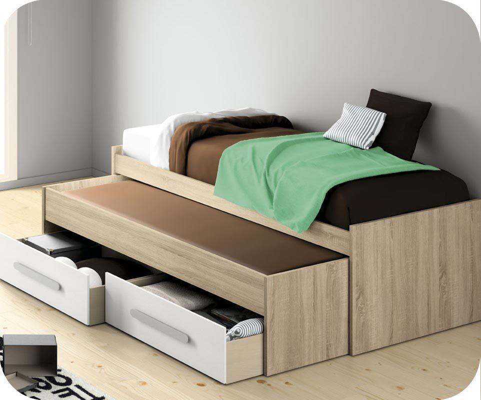 ausziehbares bett auf gleicher h he cool bett zum. Black Bedroom Furniture Sets. Home Design Ideas