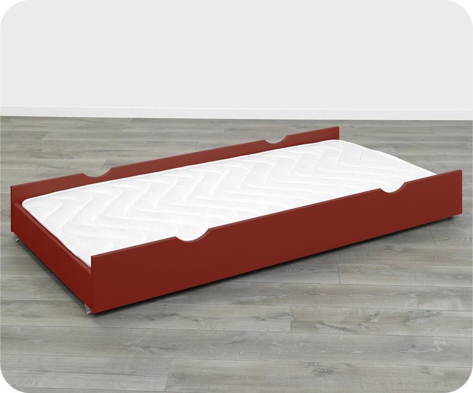 Tiroir rouge basque 90x190 cm pour lits 123 et kids for Nettoyage tapis avec canapé avec tiroir lit