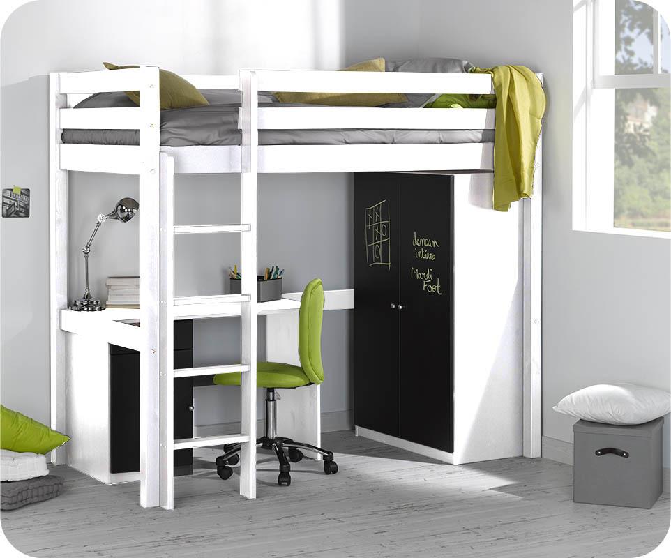 bureau enfant cargo blanc mobilier ecologique et gain de place. Black Bedroom Furniture Sets. Home Design Ideas